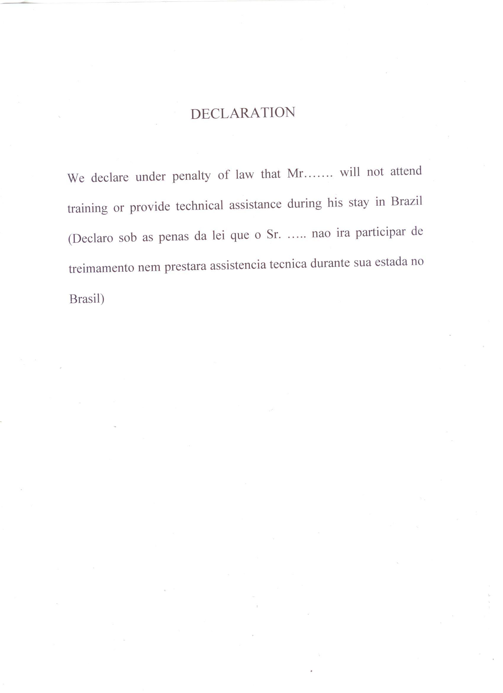 Brazil visa service in ahmedabad gujarat declaration form stopboris Images
